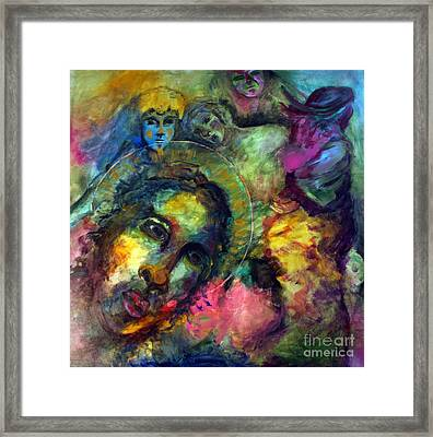 He Lives In Everything Framed Print by Denice Rinks
