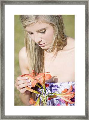 He Loves Me He Love Me Not Framed Print