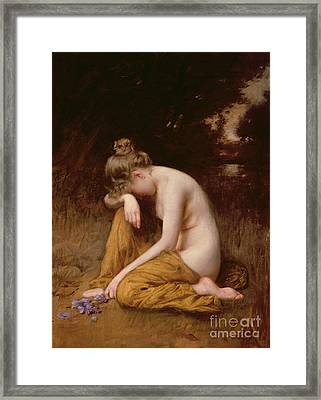 He Loves Me He Loves Me Not  Framed Print by Robert Fowler