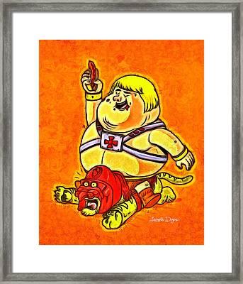 He-man - Da Framed Print by Leonardo Digenio