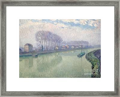 he Marne at Pomponne Framed Print by MotionAge Designs