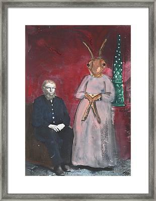 He Married A Cockroach  Framed Print