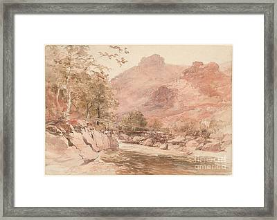 he Old Miner's Bridge over the River Conway Framed Print