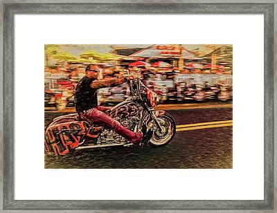He Rides Framed Print
