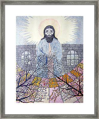 Framed Print featuring the painting He Say by Yury Bashkin