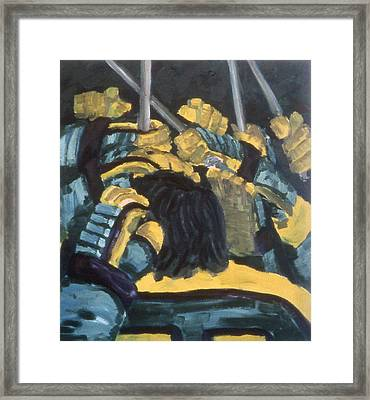 He Scores Framed Print by Ken Yackel