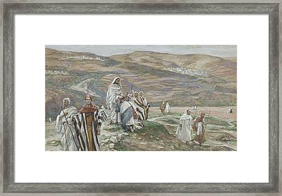 He Sent Them Out Two By Two Framed Print by Tissot