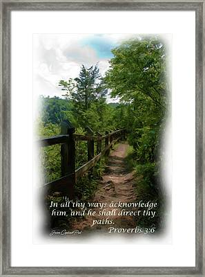 He Shall Direct Thy Paths Framed Print