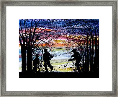 He Shoots And Scores Framed Print by NHowell