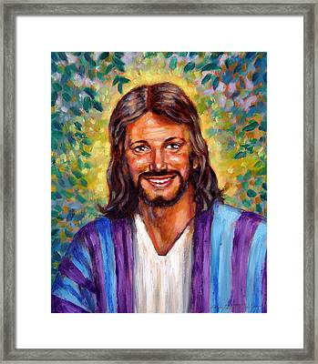 He Smiles Framed Print by John Lautermilch