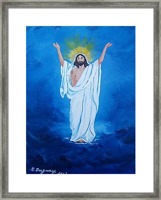 He Walked On Water Framed Print by Sharon Duguay
