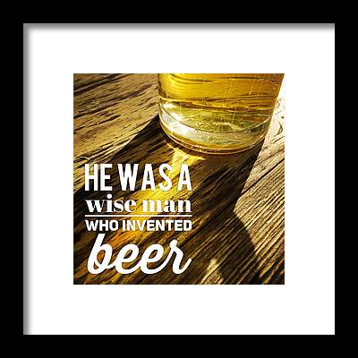 Beer Framed Prints