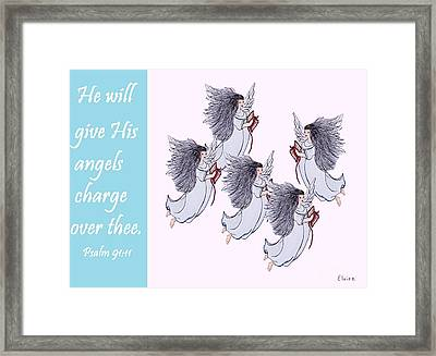 He Will Give His Angels Charge Over Thee Framed Print