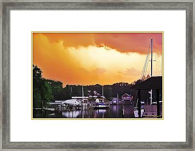 Framed Print featuring the photograph Head For Safety by Brian Wallace