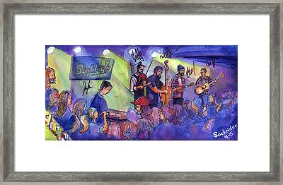 Framed Print featuring the painting Head For The Hills At Barkley Ballroom by David Sockrider