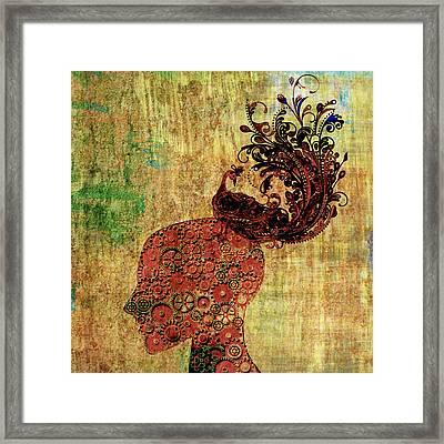 Head Full Framed Print by Ally White