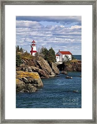 Head Harbour Lighthouse Framed Print