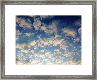 Head In The Clouds- Art By Linda Woods Framed Print