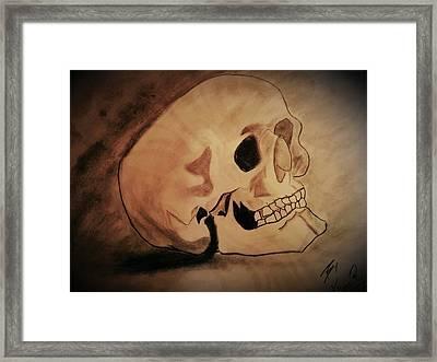 Head Framed Print by Kiran Kumar