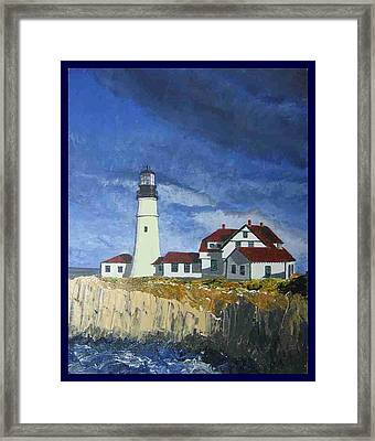 Head Lighthouse  Framed Print
