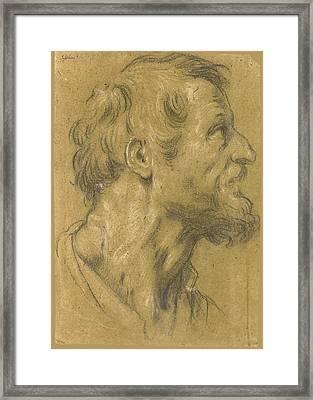 Head Of A Bearded Man Facing Right Framed Print
