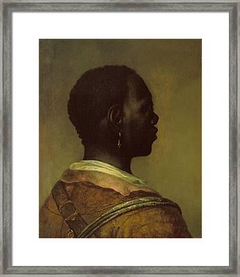 Head Of A Black Man Framed Print by Govaert Flinck