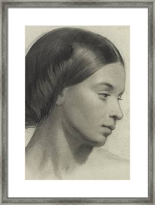 Head Of A Girl Framed Print by Anonymous