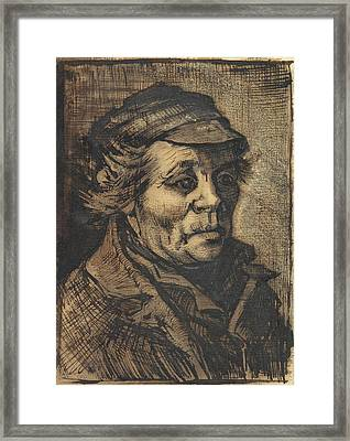 Head Of A Man, 1884-85 01 Framed Print