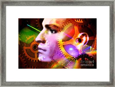Head Of A Mannequin Framed Print