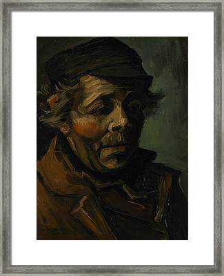 Head Of A Peasant  Framed Print by Vincent van Gogh