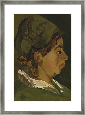 Head Of A Peasant Woman Framed Print by Vincent Van Gogh