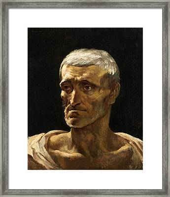Head Of A Shipwrecked Man  Framed Print by Theodore Gericault