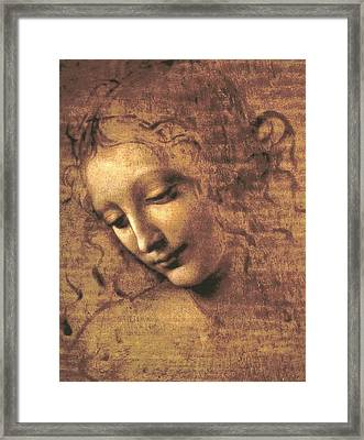 Head Of A Woman Framed Print