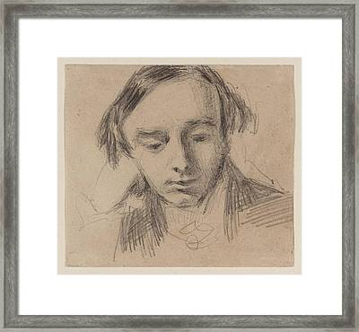 Head Of A Young Man Framed Print