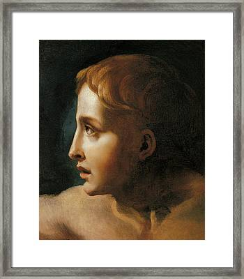 Head Of A Youth Framed Print by Theodore Gericault
