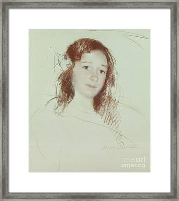 Head Of Adele Framed Print