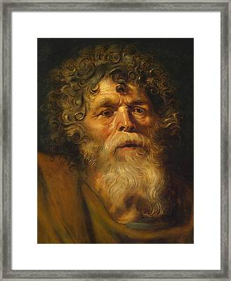 Head Of An Old Man Framed Print by Peter Paul Rubens
