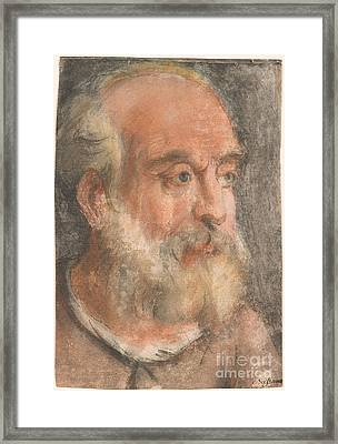 Head Of An Old Man With White Beard Framed Print