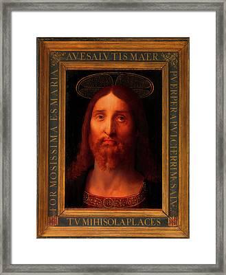 Framed Print featuring the painting Head Of Christ                                   by Fernando De La Almedina