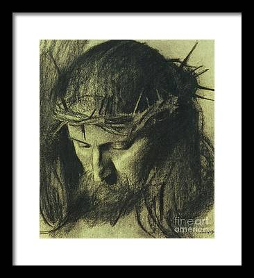 Religious Drawings Framed Prints