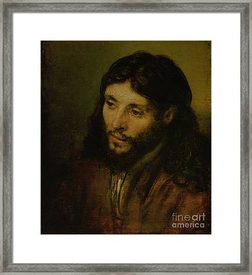 Head Of Christ Framed Print by Rembrandt