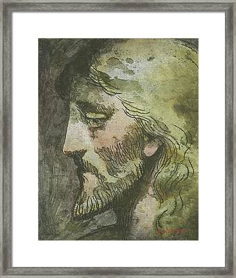 Head Of Christ Framed Print by Robert McIntosh