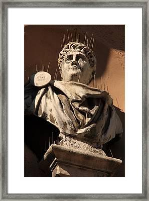 Head Of Nero In Venice Framed Print by Michael Henderson