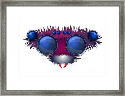 Head Of The Big Hairy Spider Framed Print