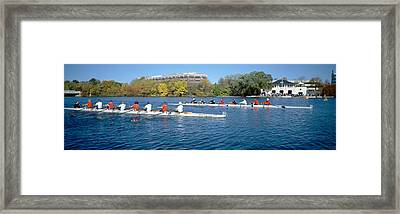 Head Of The Charles Rowing Festival Framed Print by Panoramic Images