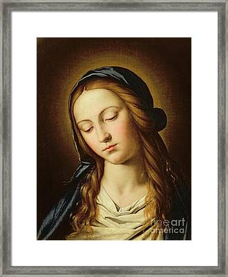 Head Of The Madonna Framed Print by Il Sassoferrato