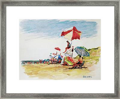 Head  Of The Meadow Beach, Afternoon Framed Print by Peter Salwen