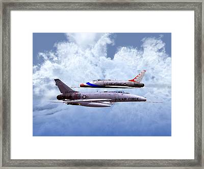 Head-on Pass Framed Print