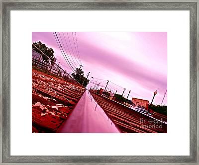 Head On The Tracks Framed Print by Chuck Taylor