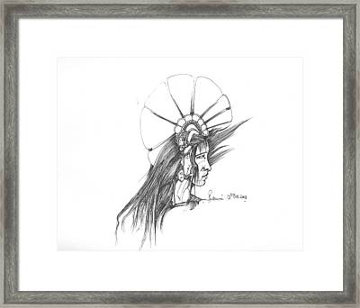 Head Framed Print by Padamvir Singh